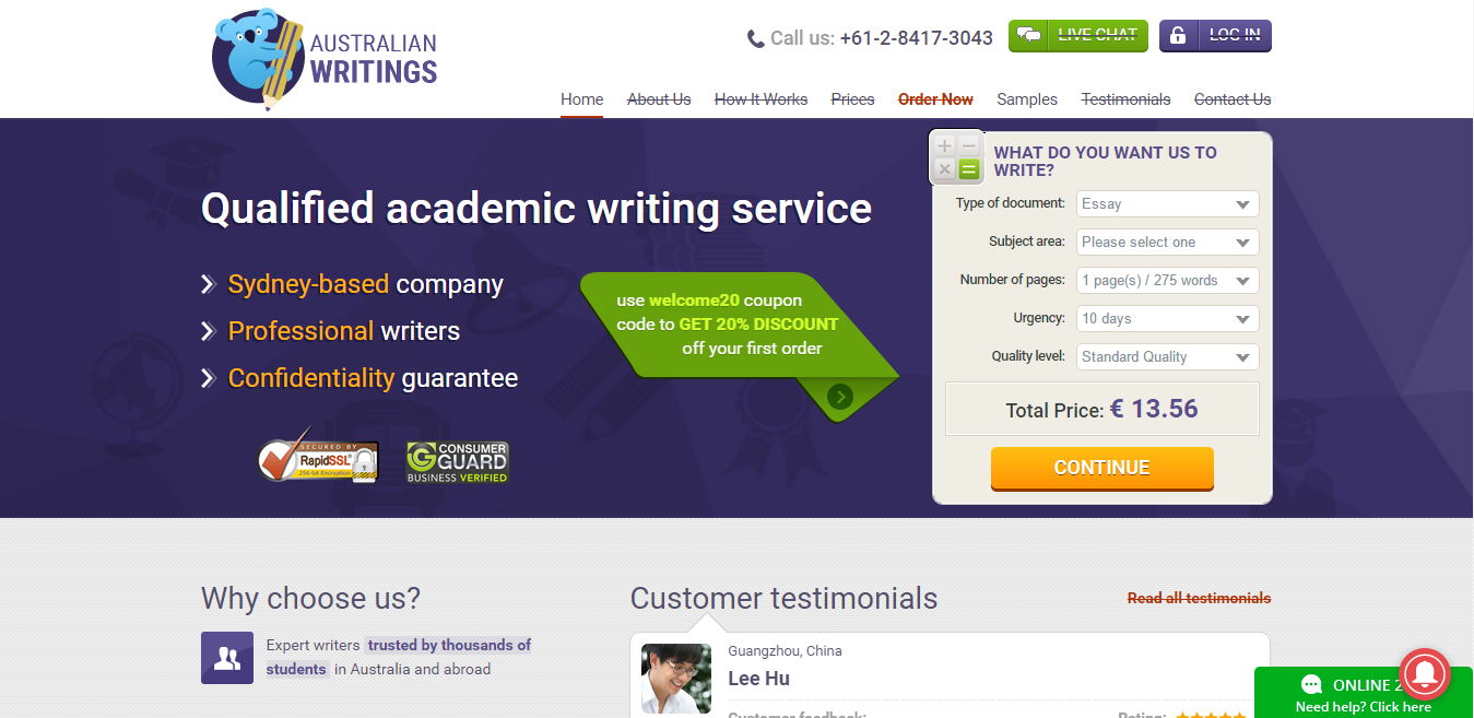 Australianwritingscom Review  Aussie Essay Reviews Australianwritings